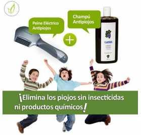 Peine Electrico Elimina Piojos + Champu Al Vinagre
