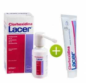 Clorhexidina Lacer Spray 40 Ml + Lacer Clorhexidina Pasta Dentifrica