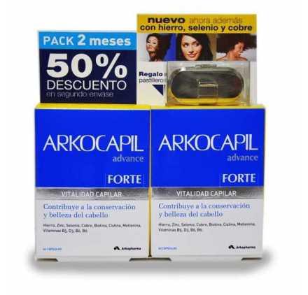 Arkocapil Advance 60 Capsulas 50% Descuento Segundo Envase