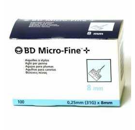 Aguja Microfine Pluma Tw 0,25X8Mm 100Uds