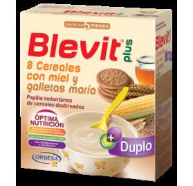 Blevit Plus Duplo 8 Cereales con miel y galletas 2 uds de 300 gr