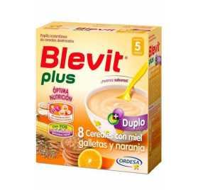 Blevit Plus Duplo 8 Cereales con galleta y naranja 2 uds de 300 gr