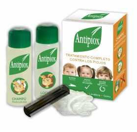 Antipiox Pack Locion + Champu + Lendrera