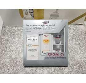 Eucerin Hyaluron-Filler CC Cream tono claro+ Regalo Solución Micelar+Fotoprotección Sun Fluid Anti-Age