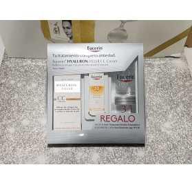 Eucerin Hyaluron-Filler CC Cream tono medio+ Regalo Solución Micelar+Fotoprotección Sun Fluid Anti-Age