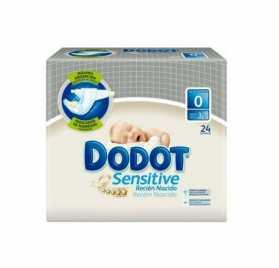Pañal DODOT SENSITIVE R. NACIDO T0 ( 1-3 KG) 24 UDS