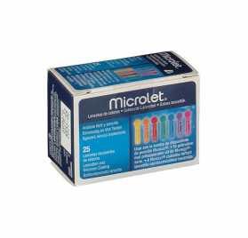 Microlet Lancetas Colores 25 Uds