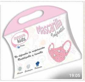Mascarilla infantil Niña + Mascarilla infantil Unisex